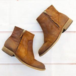 "Franco Sarto | ""Kelvin"" Nubuck Leather Ankle Boots"